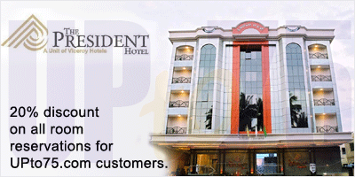 President Hotel, Bangalore Discount Offer